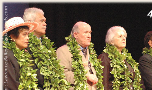 State representatives during flagraising ceremony - Cook Islands 40th Constitution Day - 4th August 2005