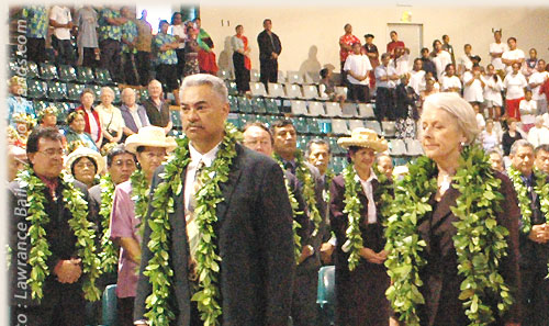 Sonny Williams and int. visitors - Cook Islands 40th Constitution Day - 4th August 2005