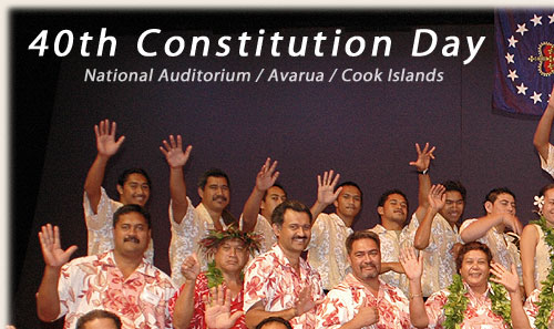 Sonny, Geena with NA staff - Cook Islands 40th Constitution Day - 4th August 2005