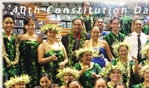 Te-Au-O-Tonga dance and music group - Cook Islands 40th Constitution Day - 4th August 2005