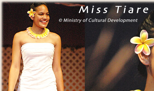 Tevae Howard from Rarotonga/ Miss tiare election 2005/06