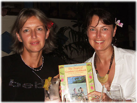 Tamarind House guests Crystina and Koti from Melbourne with the Tropical Garden Cook Book