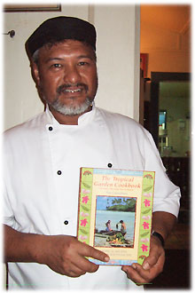 Tamarind House Chef Robert Brown with the Tropical Garden Cook Book