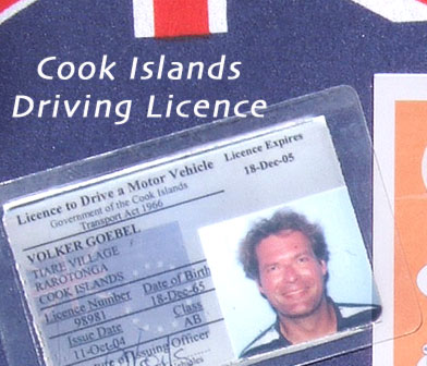 Cook Islands Driving Licence Sample (your signature on the backside)