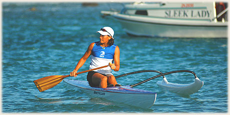 Serena Hunter / Club Ngakau Toa / CI - 2nd in Round Raro OC1 Relay Race / Photo by Lawrance Bailey