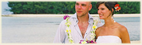 Matt and Amy got married at Muri Beach on Rarotonga / photo: William